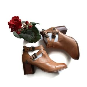 "ZIGI SOHO ""Rosemary"" Chunky Leather buckle boots"